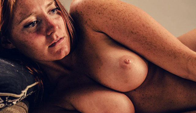 Freckle Faced Amateur Joins Hot Threeway